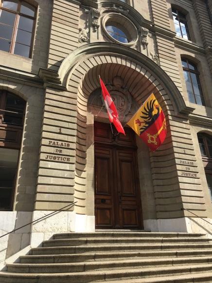 Bourg-de-Four entrance to the Palais de Justice