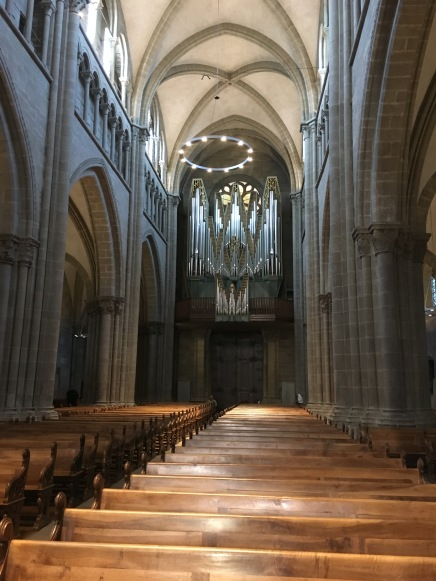 View of the organ over the entrance