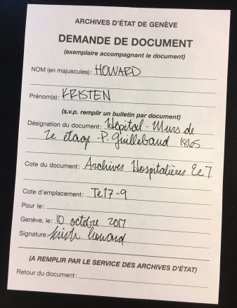 Document Request example